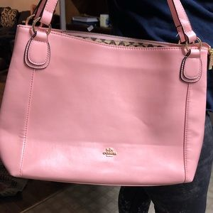 Coach Large Purse.  Color is a light pink.